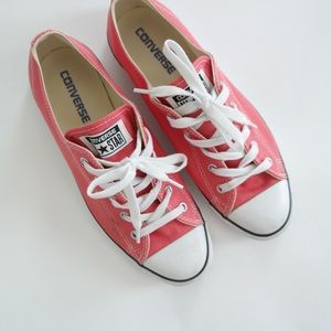 Converse Coral Low Profile Sneakers