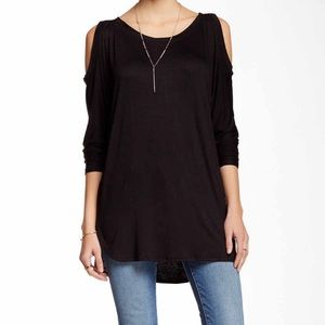 New!! Cold Shoulder Jersey Tunic