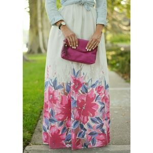 Chicwish Dresses & Skirts - Chicwish Floral Maxi Skirt