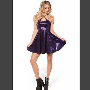 Blackmilk Dresses & Skirts - Blackmilk Geometric Violet Floral Dress