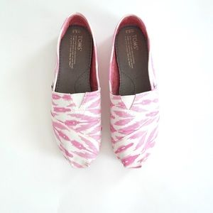 TOMS Pink Ikat Shoes