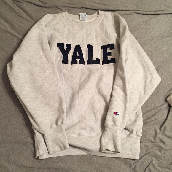 Neck Yale Champion Crew Sweatshirt Vintage 8nOwPk0