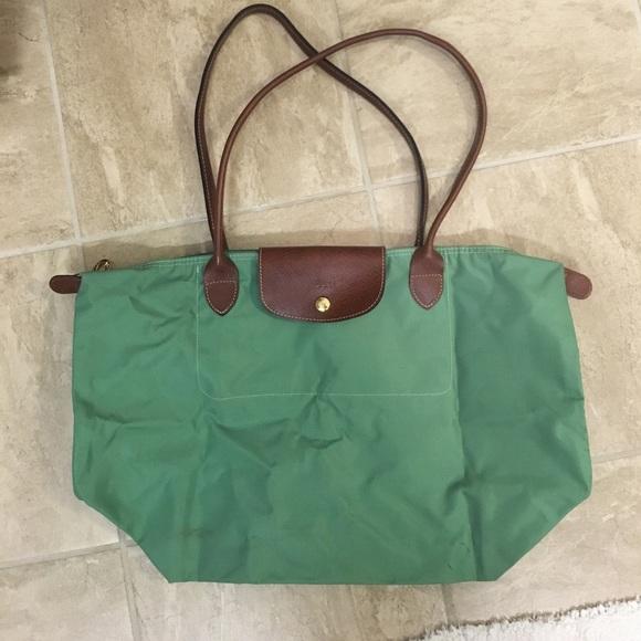 2bc18e1c5c6 Longchamp Handbags - Mint Green Longchamp Le Pliage Tote