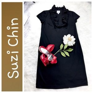 Suzi Chin Dresses & Skirts - 💕SALE💕Suzie Chin Black Ruffled Dress