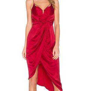 Zimmermann Red Balconette Dress
