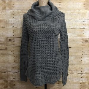 Gray Speckled Turtleneck Sweater