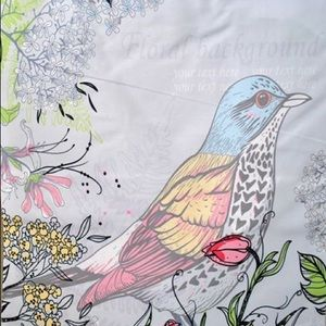 Handbags - :: SOLD :: NEW Bird & Floral Print Day Canvas Tote