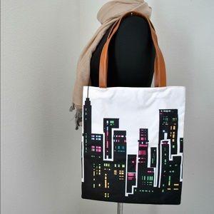 Handbags - :: SOLD :: NEW Skykraper Print Day Canvas Tote
