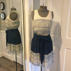 Ya Los Angeles Dresses & Skirts - Feminine & Sweet, Blue & White Sleeveless Dress