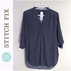 Market & Spruce Tops - Stitch Fix Polka Dot Tunic Blouse