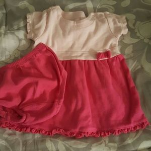 Adorable pink baby girl dress