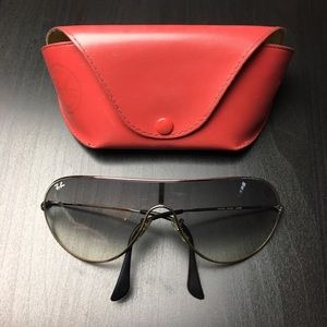 Ray-Ban Accessories - Ray-Ban Wire Frame Two Tone Black Sunglasses