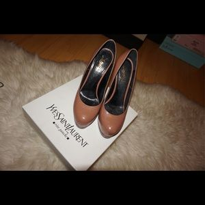Yves Saint Laurent Shoes - YSL HEELS BEIGE