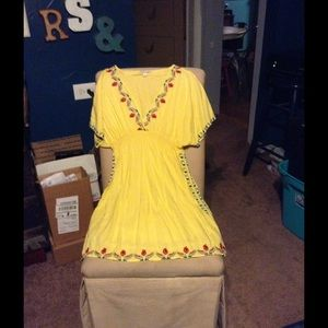 Free People Dresses & Skirts - BEAUTIFUL COLOR EMBROIDERED DRESS/TUNC  !!LOWEST!!