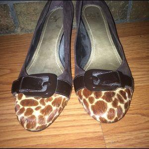 Alex Marie Shoes - Cheetah print wedge Sz7.5