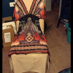 Free People Dresses & Skirts - BEAUTIFUL COLORED SEXY V-CUTE DRESS !!!LOWERED!!!