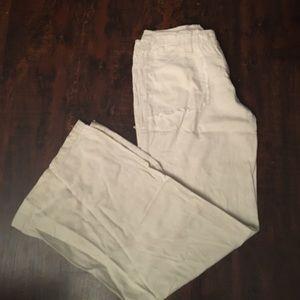 Blue Asphalt Pants - Blue Asphalt linen wide leg pants
