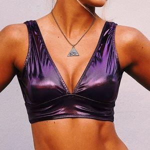 Tops - Purple Mystique Crop Top
