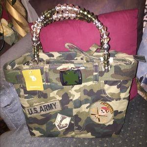 ‼️ Handbags - NWT* Military camo canvas tote bag