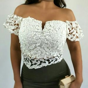 White lace top NWOT
