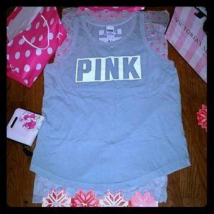 PINK Victoria's Secret Tops - Victoria's Secret Pink Tank Top