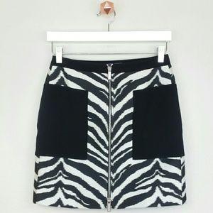 Emanuel Ungaro Dresses & Skirts - EMANUEL UNGARO zebra jacquard mini skirt