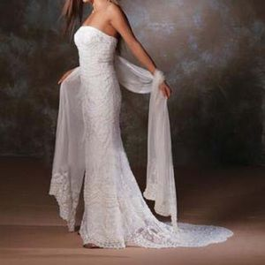 Forever Yours Dresses & Skirts - Forever Yours Mermaid Wedding Dress w/Shawl