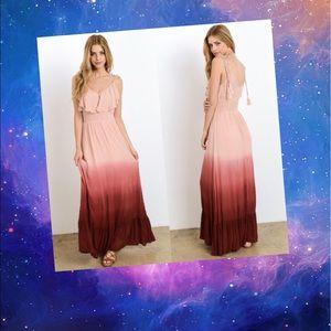 Dresses & Skirts - Dip Dye Maxi- DUSTY PEACH
