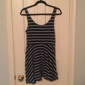 H&M Blue and White Striped Dress
