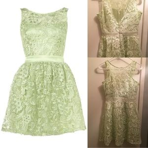 Lipsy London Dresses & Skirts - 💚*ASOS*Lipsy waxed lace prom dress [Lime Cream]💚