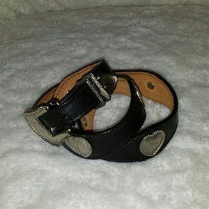 Black leather heart belt