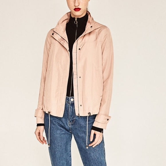 Zara - Zara soft pink water repellent jacket from 💕's closet on ...