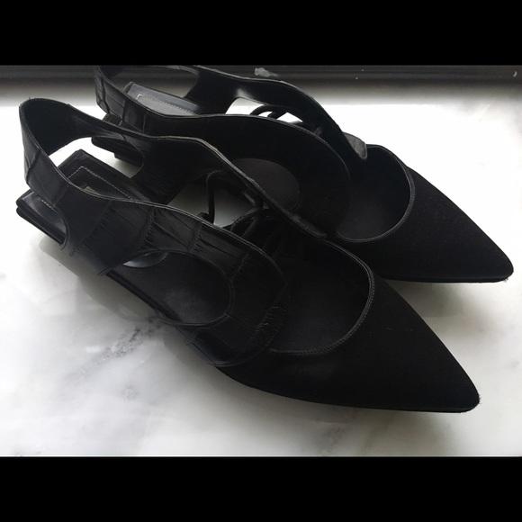 Croc Leather Poshmark Runway Flats Black Balenciaga Sporty Shoes qnv8wxtWRO