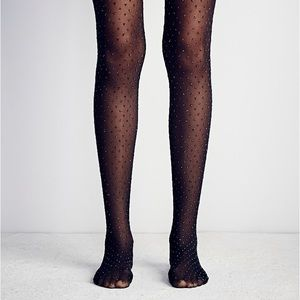 Free People Accessories - New Free People Sparkle Specks Dots Tights (S/M)