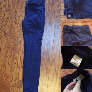 J Brand sapphire skinny purple/ blue pants sz 27