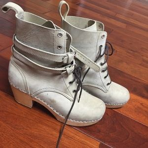 Swedish Hasbeens Shoes - Swedish Hasbeens combat granny booties