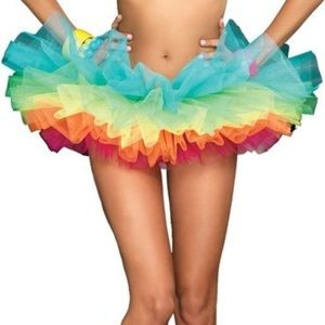 leg avenue Dresses & Skirts - Rave festival Rainbow tutu
