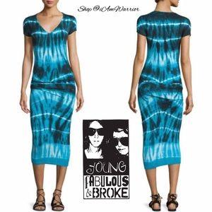 Young Fabulous & Broke Dresses & Skirts - 🆕NWT Young Broke & Fabulous tie-dye midi dress