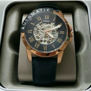 NWT rose gold Fossil Automatic Skeleton watch