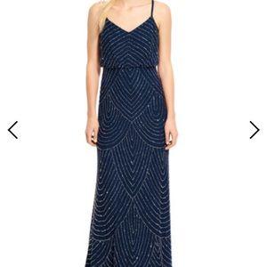 NWT Adrianna Papell Beaded Art Deco Prom Dress