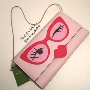 kate spade Handbags - 🌈🦄KATE SPADE LIMITED GLASSES CLUTCH ROSE COLOR