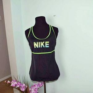 Nike Tops - Nike DriFit Green & Black Workout Top