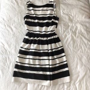 Bar III Black & White Stripe Dress