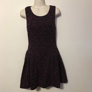 Sugarlips Purple and Black Brocade Dress