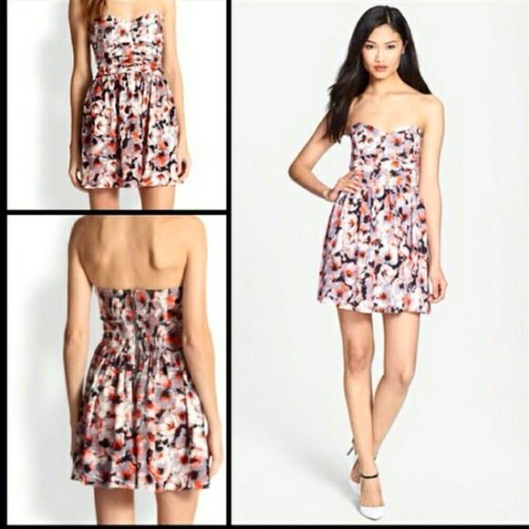 79% off Parker Dresses & Skirts - Parker Melrose Print Silk ...