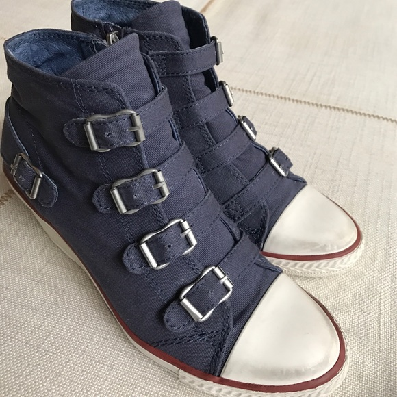 c5a765df115 Ash Shoes - Ash Genialbis Buckled Wedge Sneaker