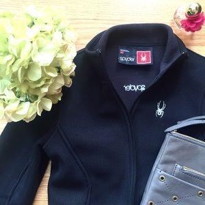 Spyder Jackets & Blazers - Spyder black fitted zip up jacket