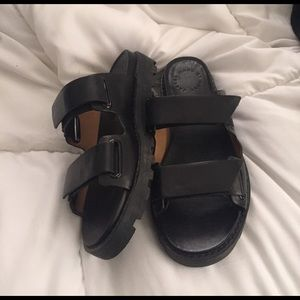 Marc By Marc Jacobs leather strap sandal