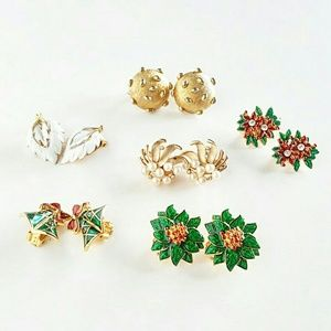 Vintage Clip-On Earrings Set of 6 pairs