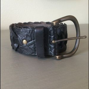 Fossil Accessories - ️Fossil Wide Woven Embossed Brown Belt